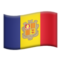 Flag: Andorra on Apple iOS 13.3