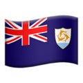 Flag: Anguilla on Apple iOS 13.3