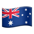 Flag: Australia on Apple iOS 13.3