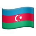 Flag: Azerbaijan on Apple iOS 13.3