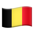 Flag: Belgium on Apple iOS 13.3