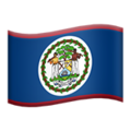 Flag: Belize on Apple iOS 13.3