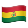 Flag: Bolivia on Apple iOS 13.3