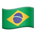 Flag: Brazil on Apple iOS 13.3