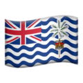 Flag: British Indian Ocean Territory on Apple iOS 13.3