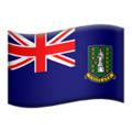 Flag: British Virgin Islands on Apple iOS 13.3