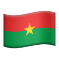 Flag: Burkina Faso on Apple iOS 13.3