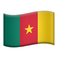 Flag: Cameroon on Apple iOS 13.3