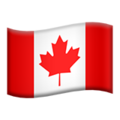 Flag: Canada on Apple iOS 13.3