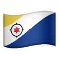 Flag: Caribbean Netherlands on Apple iOS 13.3