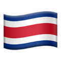 Flag: Costa Rica on Apple iOS 13.3