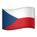 Flag: Czechia on Apple iOS 13.3