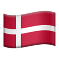 Flag: Denmark on Apple iOS 13.3