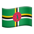 Flag: Dominica on Apple iOS 13.3