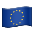 Flag: European Union on Apple iOS 13.3