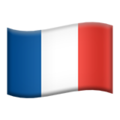 Flag: France on Apple iOS 13.3