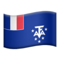 Flag: French Southern Territories on Apple iOS 13.3