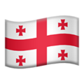 Flag: Georgia on Apple iOS 13.3