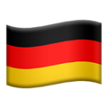 Flag: Germany on Apple iOS 13.3