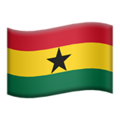 Flag: Ghana on Apple iOS 13.3