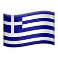 Flag: Greece on Apple iOS 13.3