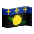 Flag: Guadeloupe on Apple iOS 13.3