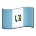 Flag: Guatemala on Apple iOS 13.3