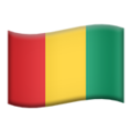 Flag: Guinea on Apple iOS 13.3