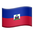 Flag: Haiti on Apple iOS 13.3