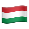 Flag: Hungary on Apple iOS 13.3