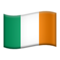 Flag: Ireland on Apple iOS 13.3