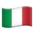 Flag: Italy on Apple iOS 13.3