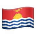 Flag: Kiribati on Apple iOS 13.3