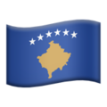Flag: Kosovo on Apple iOS 13.3
