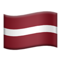 Flag: Latvia on Apple iOS 13.3