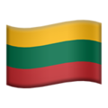 Flag: Lithuania on Apple iOS 13.3