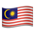 Flag: Malaysia on Apple iOS 13.3