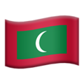 Flag: Maldives on Apple iOS 13.3