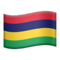 Flag: Mauritius on Apple iOS 13.3