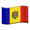 Flag: Moldova on Apple iOS 13.3