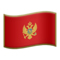 Flag: Montenegro on Apple iOS 13.3