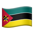 Flag: Mozambique on Apple iOS 13.3