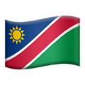 Flag: Namibia on Apple iOS 13.3