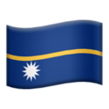 Flag: Nauru on Apple iOS 13.3