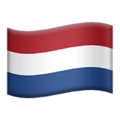 Flag: Netherlands on Apple iOS 13.3