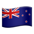 Flag: New Zealand on Apple iOS 13.3