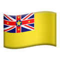 Flag: Niue on Apple iOS 13.3