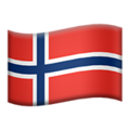 Flag: Norway on Apple iOS 13.3