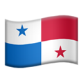 Flag: Panama on Apple iOS 13.3