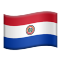 Flag: Paraguay on Apple iOS 13.3